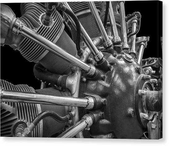 Radial Aircraft Engine Canvas Print