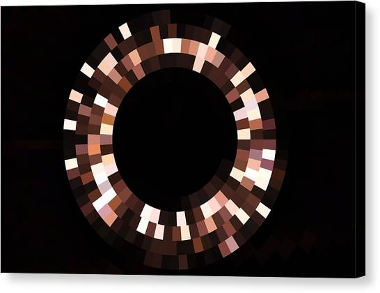 Radial Mosaic In Brown Canvas Print