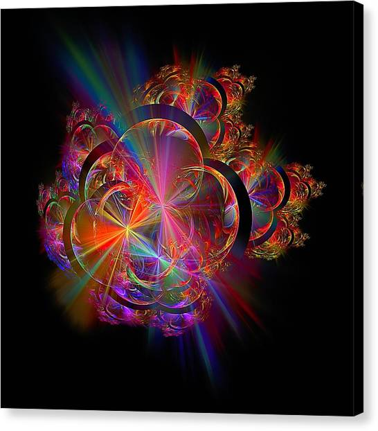 Radiant Rings Canvas Print