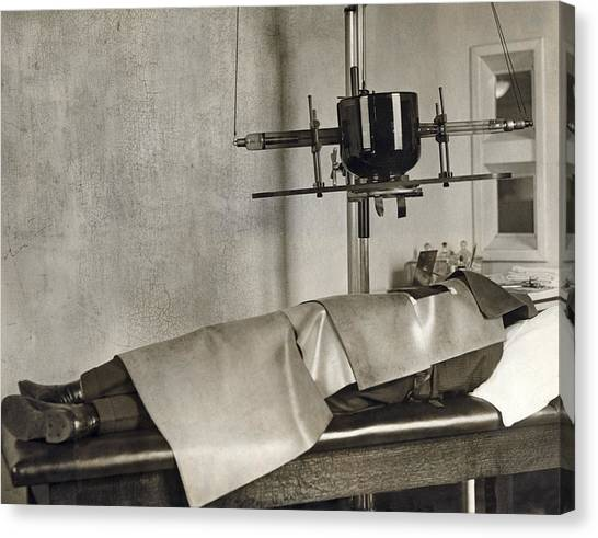 Columbia University Canvas Print - Radiation Cancer Treatment by Underwood Archives