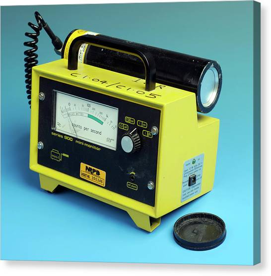 Electronic Instruments Canvas Print - Radiation Detector by Public Health England