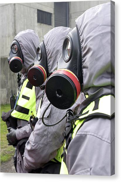 Terrorist Canvas Print - Radiation Emergency Response Workers by Public Health England