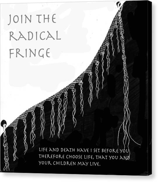 Radical Fringe Canvas Print