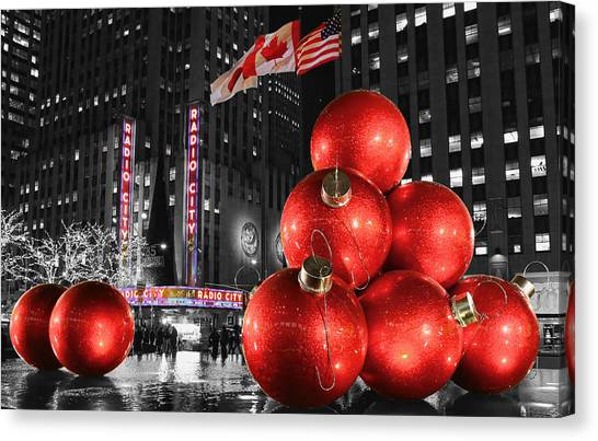 Radio City Music Hall In January  Canvas Print by Lee Dos Santos