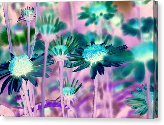 Radioactive Bouquet Canvas Print