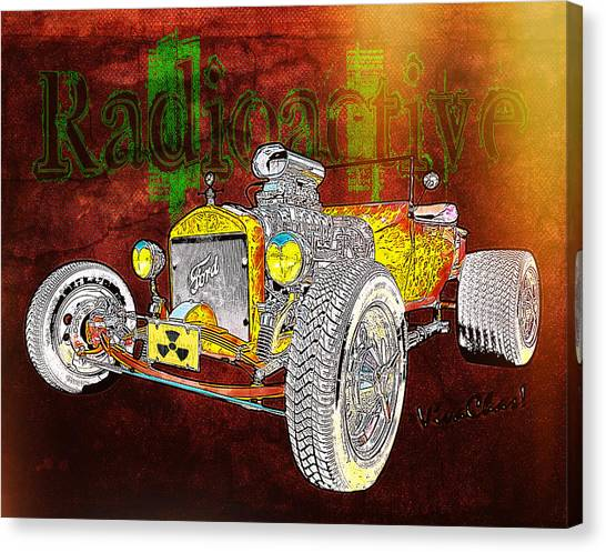 Radioactive Rod Canvas Print