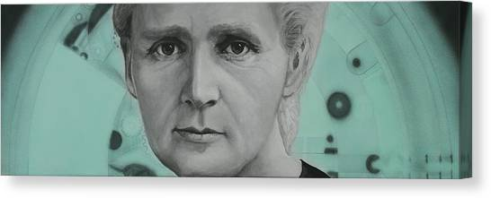 Radium- Marie Curie Canvas Print by Simon Kregar
