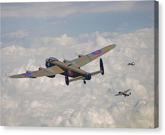 Luftwaffe Canvas Print - Raf Lancaster - Conclusion by Pat Speirs