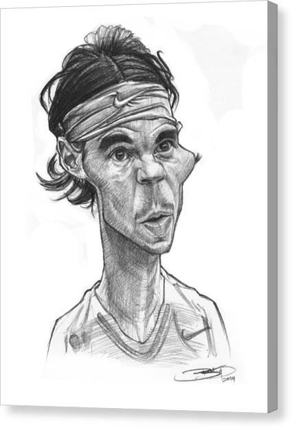 Rafael Nadal Canvas Print - Rafa Nadal by Sri Priyatham