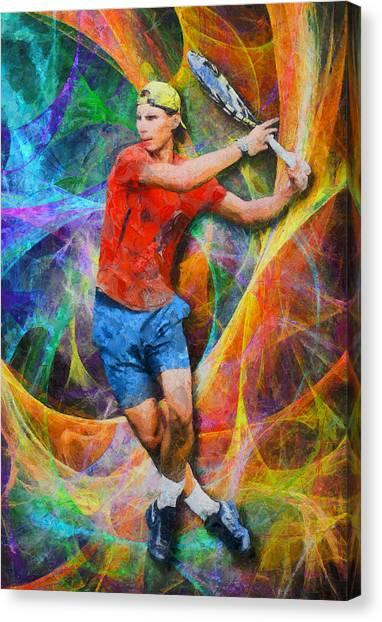 Rafael Nadal Canvas Print - Rafael Nadal 02 by RochVanh