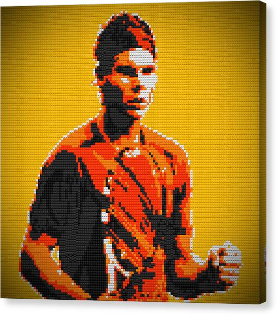 Rafael Nadal Canvas Print - Rafael Nadal 2 Lego Digital Painting by Georgeta Blanaru