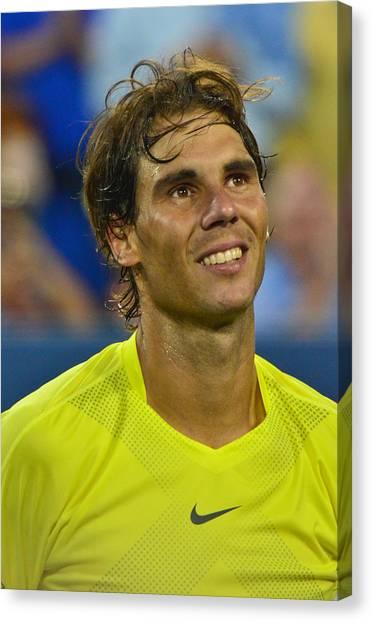 Rafael Nadal Canvas Print - Rafael Nadal by David Long