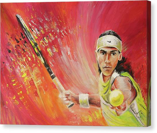 Rafael Nadal Canvas Print - Rafael Nadal by Miki De Goodaboom
