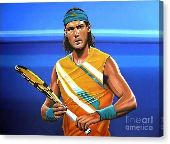 Tennis Players Canvas Print - Rafael Nadal by Paul Meijering
