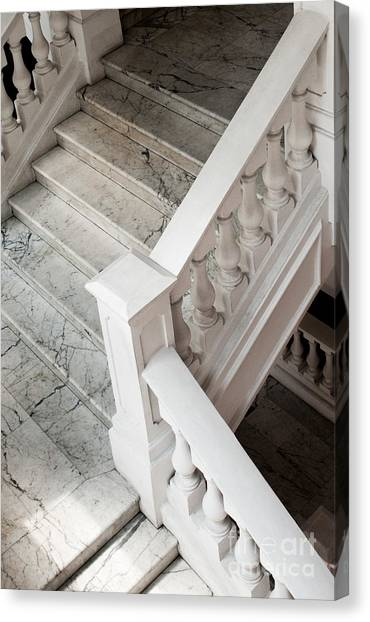 Raffle's Hotel Marble Staircase Canvas Print