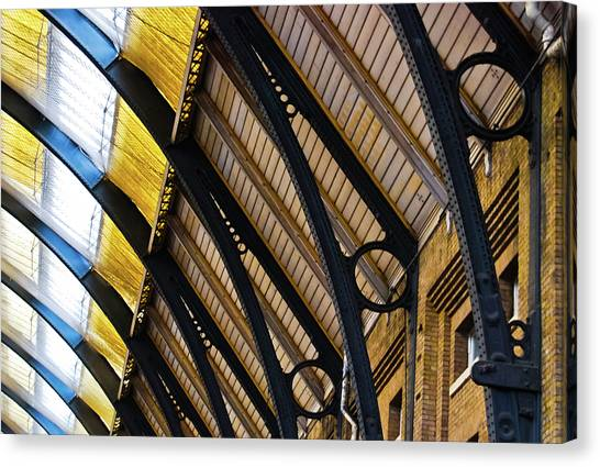 Rafters At London Kings Cross Canvas Print