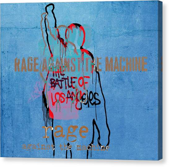 Causes Canvas Print - Rage Against The Machine by Dan Sproul