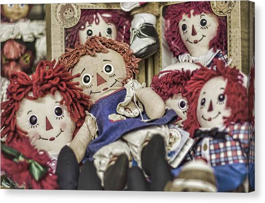 Raggedy Ann And Andy Canvas Print