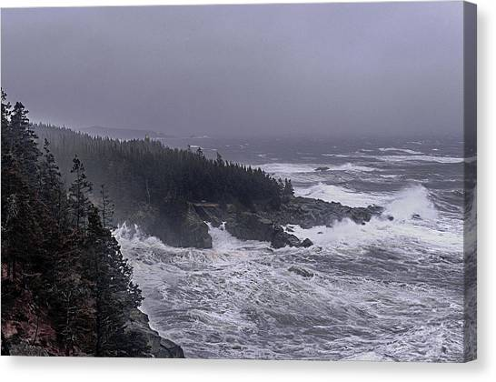Raging Fury At Quoddy Canvas Print