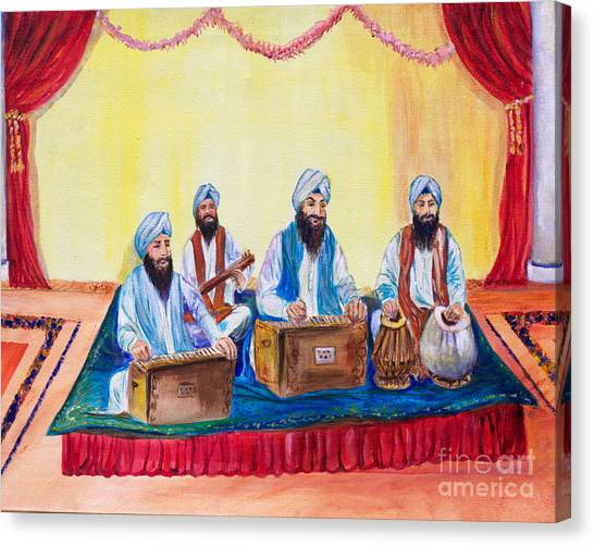 Sikh Art Canvas Print - Ragis by Sarabjit Singh