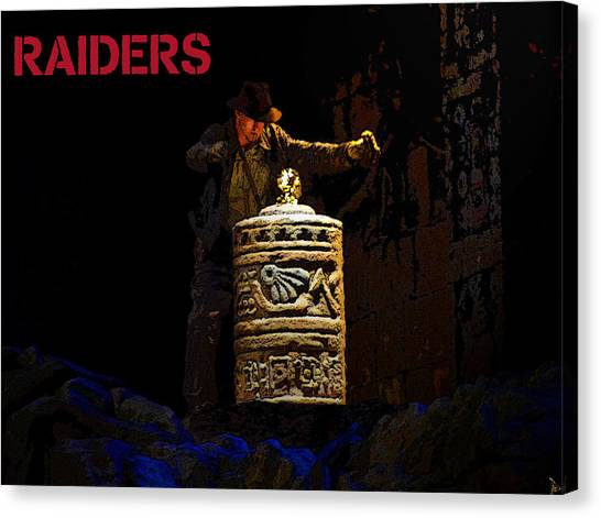 Raiders Of The Lost Ark Canvas Print - Raiders by David Lee Thompson