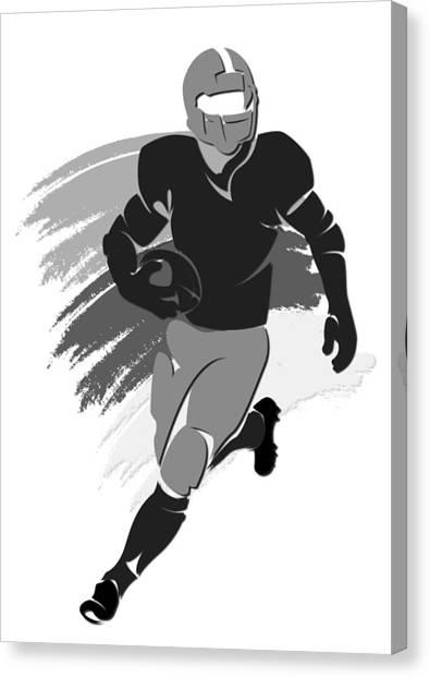 Oakland Raiders Canvas Print - Raiders Shadow Player2 by Joe Hamilton