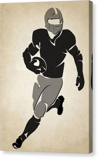 Oakland Raiders Canvas Print - Raiders Shadow Players by Joe Hamilton