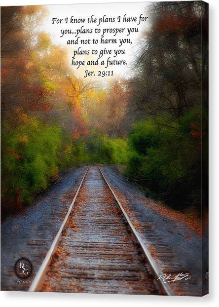 Rail Of Hope Canvas Print