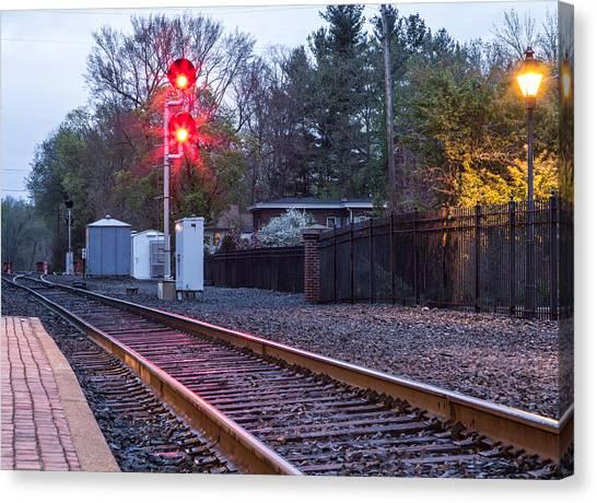 Rail Road Tracks Canvas Print
