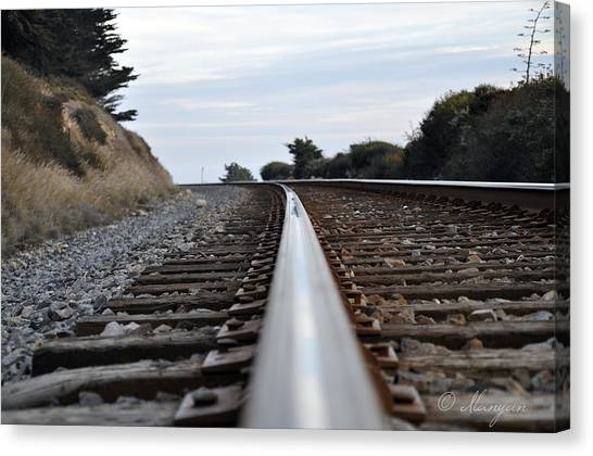 Rail Rode Canvas Print