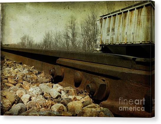 Railroad Bolts Canvas Print