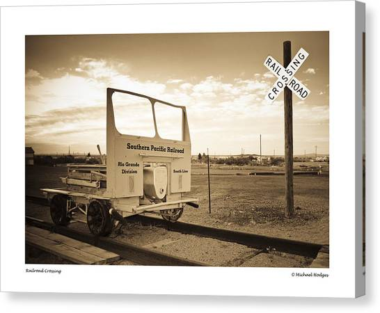 Pacific Division Canvas Print - Railroad Crossing by Michael Hodges