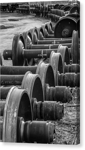 Railroad Wheels Canvas Print