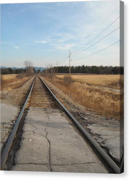 Rails And Lines Canvas Print