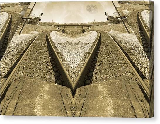 Amtrak Canvas Print - Rails by Betsy Knapp