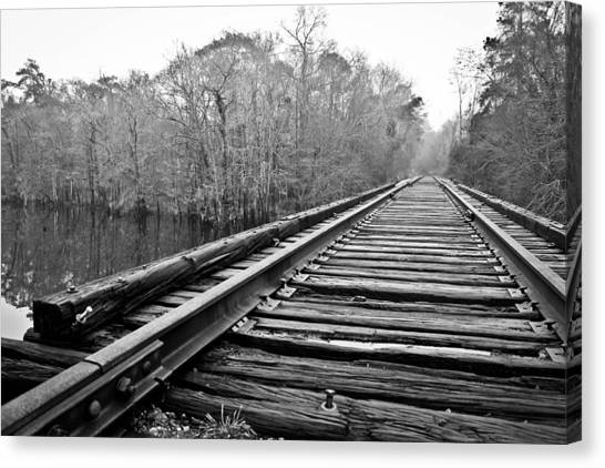 Rails Over Water Canvas Print