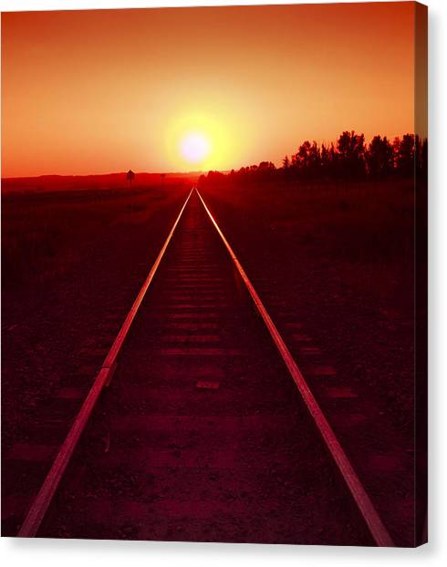 Rails To The Sun Canvas Print