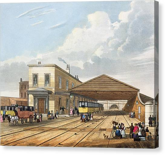 Train Canvas Print - Railway Office, Liverpool, Plate 8 by Thomas Talbot Bury