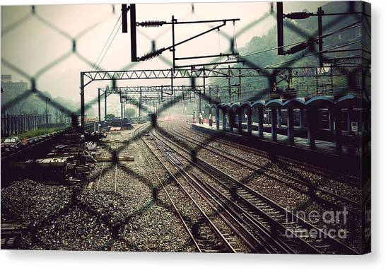 Canvas Print featuring the photograph Railway Station by Yew Kwang