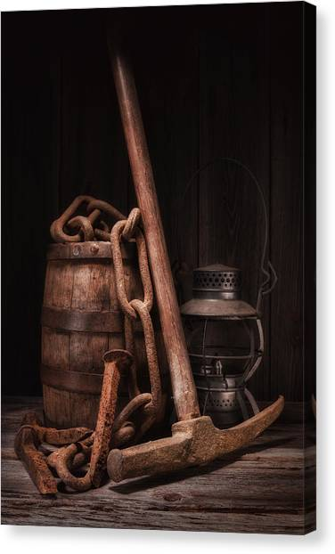Keg Canvas Print - Railway Still Life by Tom Mc Nemar