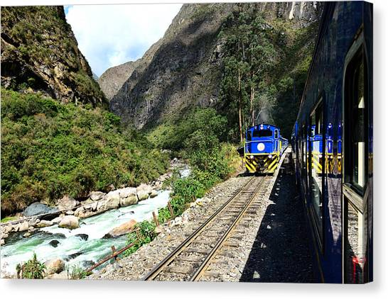 Railway To Machu Picchu Canvas Print