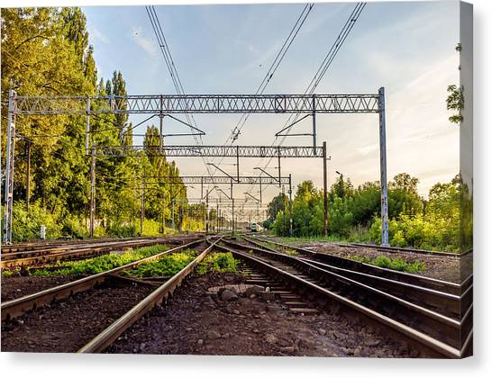 Railway To Nowhere Canvas Print
