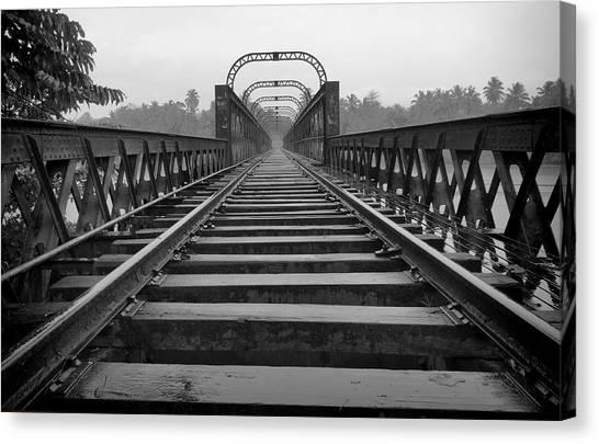 Railway Tracks Canvas Print by Sanjeewa Marasinghe