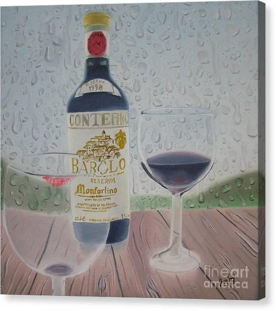 Rain And Wine Canvas Print by Angela Melendez