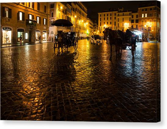 Rain Chased The Tourists Away... Canvas Print