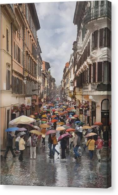 Rain In Rome Canvas Print