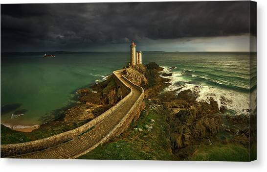 Tower Canvas Print - Rain Is Coming ... by Krzysztof Browko
