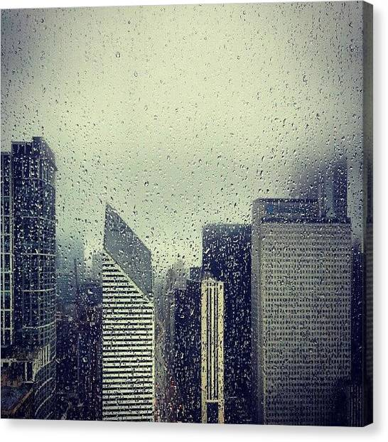 Rain Canvas Print - Rain by Jill Tuinier