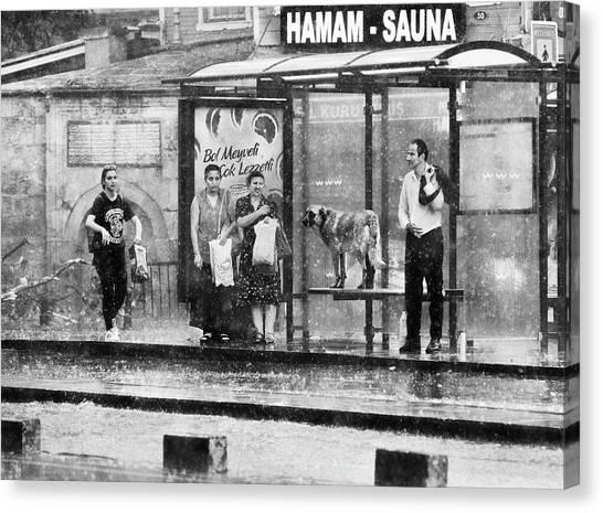 Wet Canvas Print - Rain by Kadir Tezel