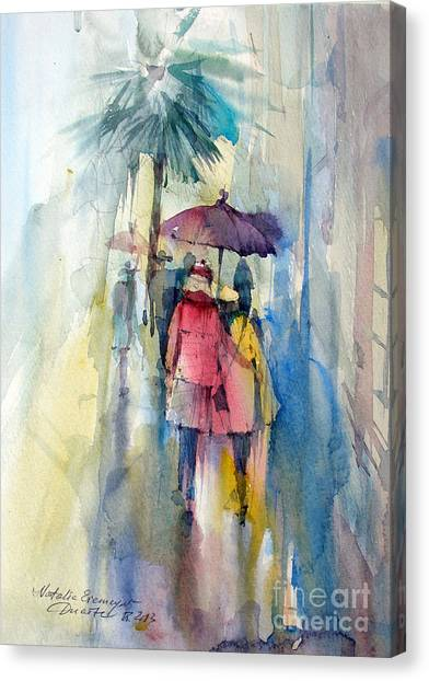 Rain Canvas Print by Natalia Eremeyeva Duarte